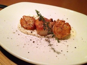 scallops small but delicious