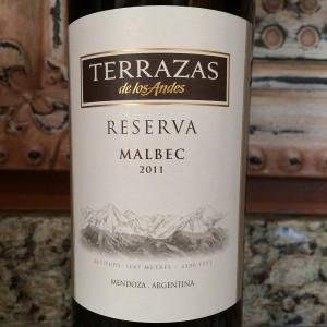 Bills Wine Wandering 2011 Terrazas De Los Andes Reserva Malbec